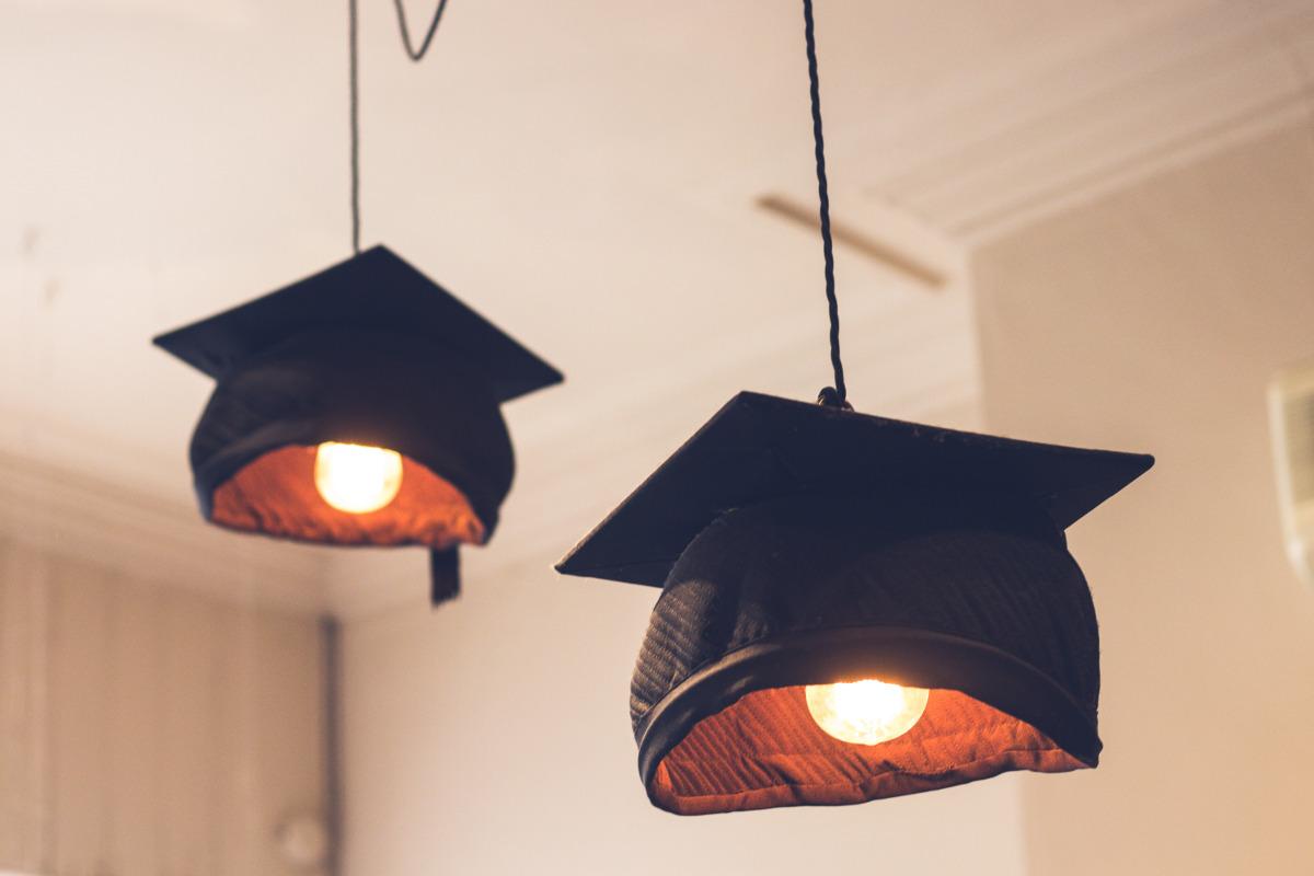 mortar board lamps